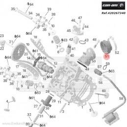 Nº 22 Pistón, compl.250cc - Sel. A 250cc-250 RACING - 02602024800A