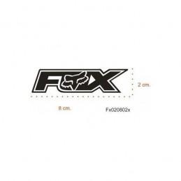 Adhesivo FOX 8x2 NEGRO