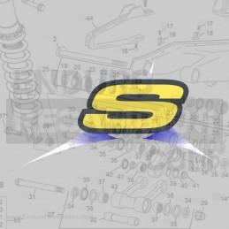 Pantalón UFO 40 Aniversario amarillo fluor/rojo